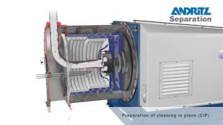ANDRITZ Krauss-Maffei SZ Pusher centrifuge operation principle