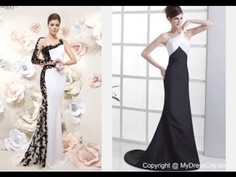 Top 100 Black And White Evening Dresses For Women Youtube