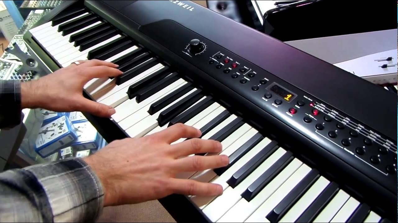 kurzweil mps20f digital piano youtube. Black Bedroom Furniture Sets. Home Design Ideas