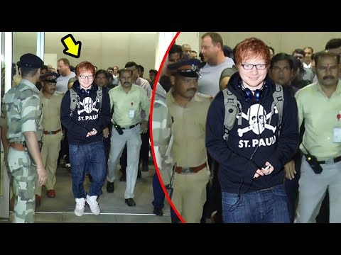 Ed Sheeran's GRAND Welcome At Mumbai Airport