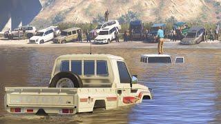 شخص ثري مايحب الشاص و لكن بعدما غرق فالسيل لم يستطع أحد أن يخرجه فجاءه راعي الشاص - قراند 5 - GTA V