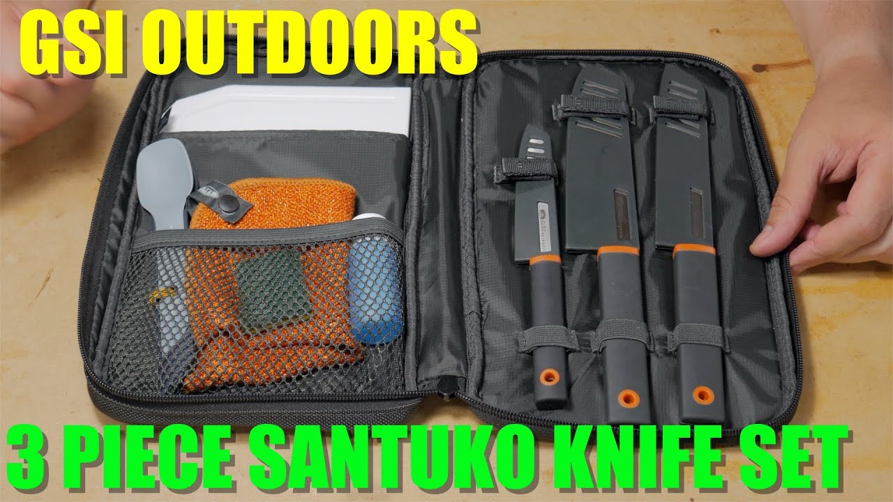 Gsi Santuko Knife Set Essential Outdoor Kitchen Gear Youtube