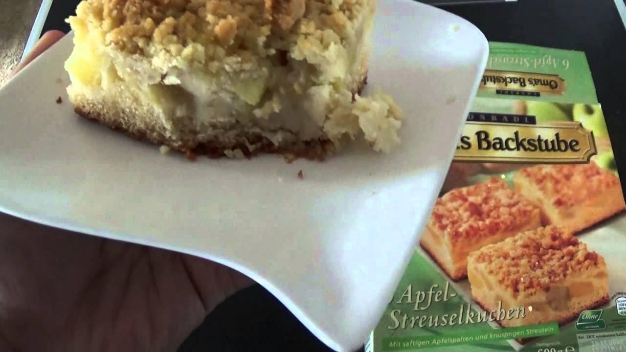 Apfel Streuselkuchen Omas Backstube Aldi Test Unboxing Youtube
