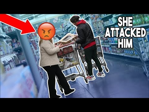 SHOPPING OUT OF PEOPLE'S CARTS IN WALMART! This Lady Chased Us...