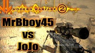 MrBboy45 & JoJo - 1 vs 1 au snipe sur MW2 (avec trickshots foireux)