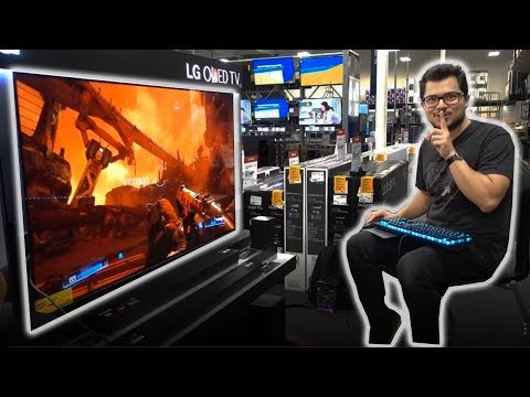 Hijacking a TV at Best Buy with a GAMING PC! ft. Cooler Master