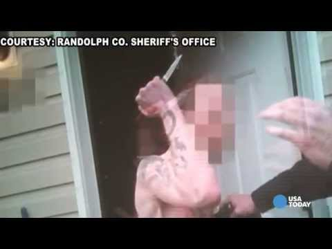 Body cam captures man attacking deputy with knife