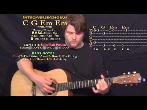 Plastic Bag (Drake) Guitar Lesson Chord Chart - Capo 1st