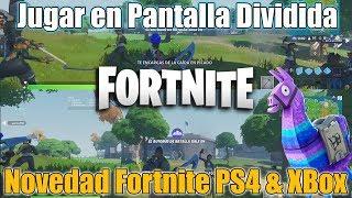 Jugar Pantalla Dividida en FORTNITE - NOVEDAD UPDATE Diciembre - Ps4 & Xbox