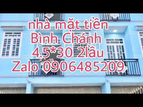 Bán nhà Bình Chánh Mặt tiền Đinh Đức Thiện 4.5x30m  SHR chính chủ  LH 0906485209