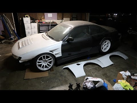 240SX Overfenders Install Pt. 1 - Cutting the Fender!