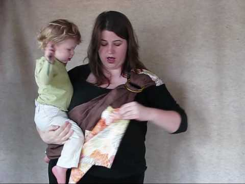 Hip Carry Instructions For A Ring Sling Youtube