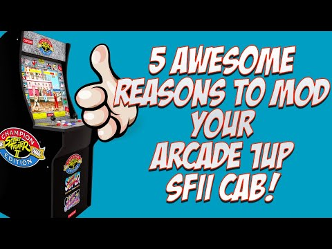Top 5 Reasons to Mod Your Arcade 1Up Street Fighter II Cabinet: #3 WILL SHOCK YOU! from moxxi