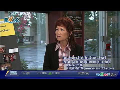 WOWtv 晨早360-Carol Chan 陳煥玲 York Region District School Board (國)