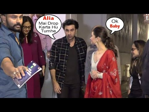 Ranbir Kapoor's Sweet Gesture Towards Girlfriend Alia Bhatt Offering Lift