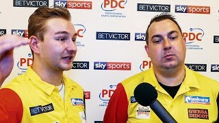 Dimitri Van den Bergh and Kim Huybrechts - Team Belgium through first round