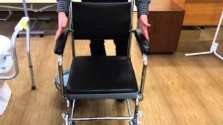 Санитарное кресло-каталка на колесах. Е 0807(, 2014-04-09T11:48:48.000Z)