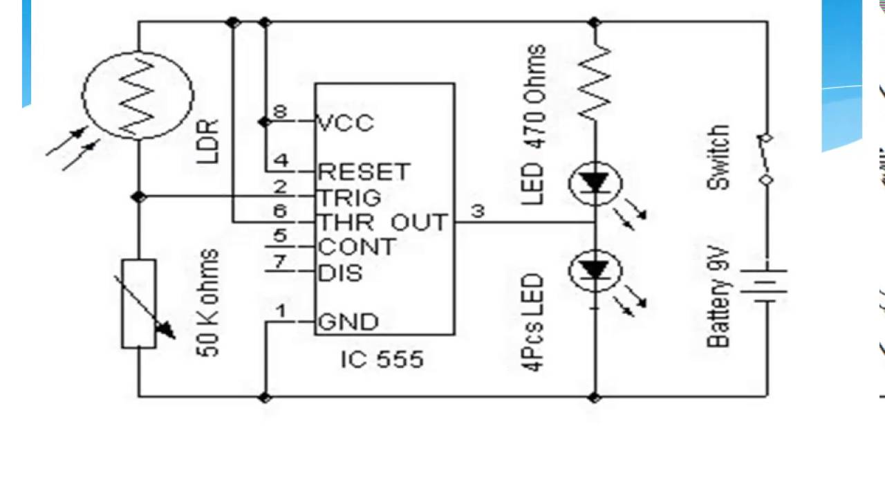 Street Light That Glows On Detecting Vehicle Movement A 555 Timer Based Motorcycle Alarm