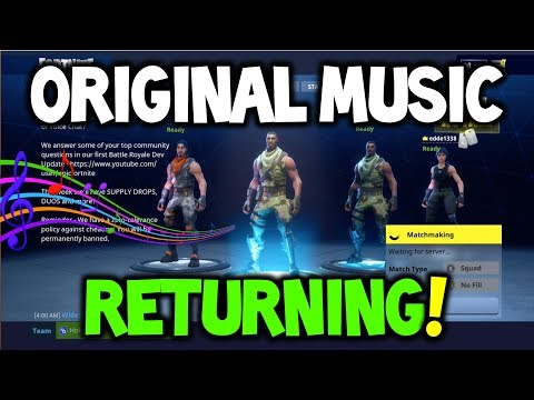 Fortnite Original SONG / MUSIC RETURNING?! (Fortnite OG Music Could Return?!) SEASON 1 MUSIC!
