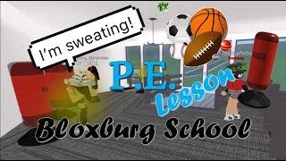 P.E. Lesson | Roleplay | Bloxburg School | Roblox