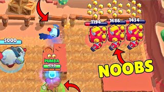 0 IQ NOOBS vs 600 IQ TEAM! Brawl Stars Wins & Fails #179