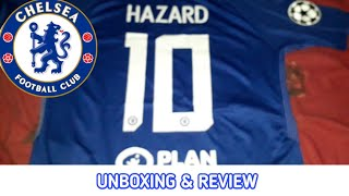 UNBOXING & REVIEW Jersey Chelsea HAZARD Home 2017/18