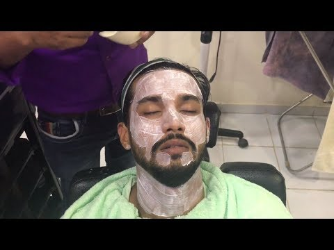 ASMR Indian Barber Facial- Face Massage,Scrub,Steam and Face Pack By (Gulzar)