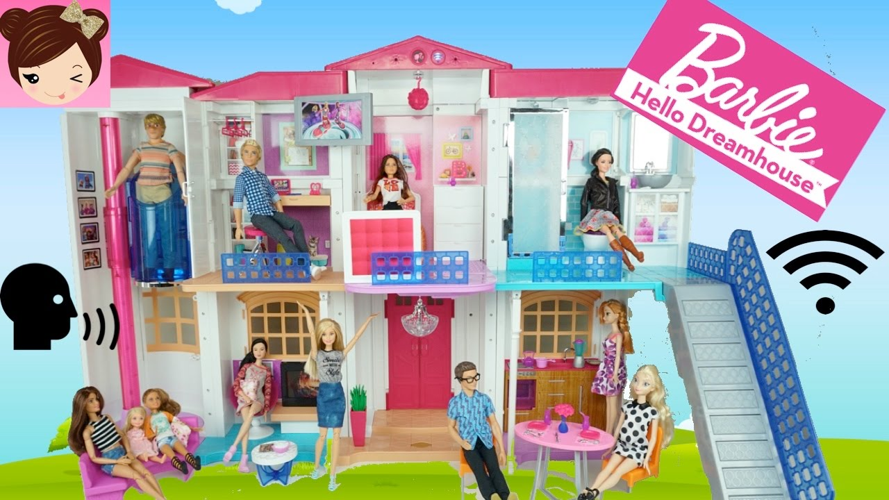 Barbie Hello Dreamhouse Tour Voice Activated Smart Doll House
