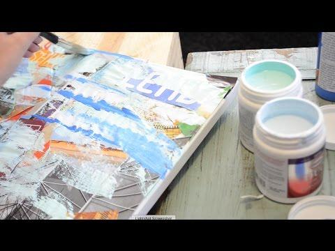DIY Modern Canvas Art! | Tay from Millennial Moms