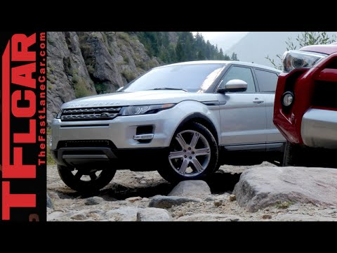 Range Rover Evoque vs Toyota 4Runner Off-Road Mashup Review (Part 1 of 2)