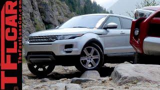 range rover evoque vs toyota 4runner off road mashup review part 1 of 2