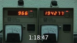 Radioactive Half-life Experiment - Part 2 - Collect the Data! - Data Run 5