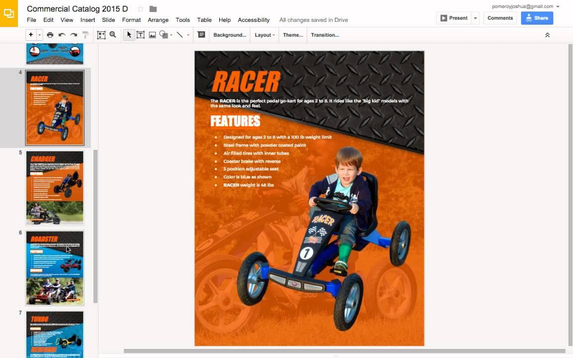 Hướng dẫn thiết kế catalog từ Google Slides