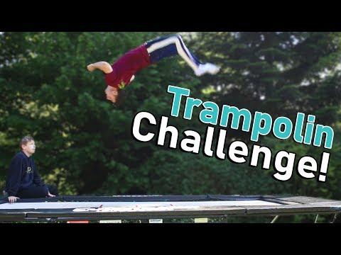TRAMPOLIN CHALLENGE gegen kleinen Bruder! | Jonah Pschl