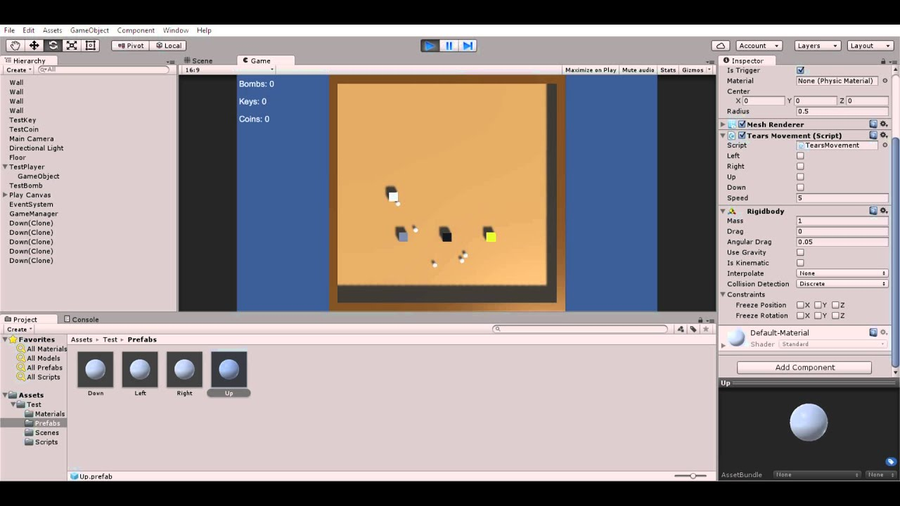Unity Test Video Binding Of Isaac Clone 001