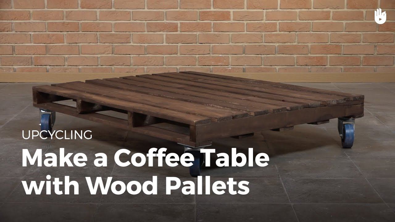 DIY Pallet Furniture Coffee Table with Wheels