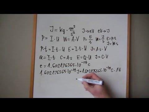 Quantum Physics Energy Unit Electron Volt Full HD video