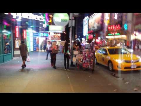 Walking around Manhattan