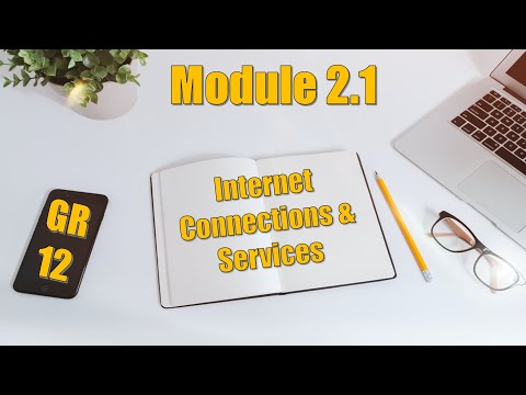 Module 2.1 - Internet Connections And Services