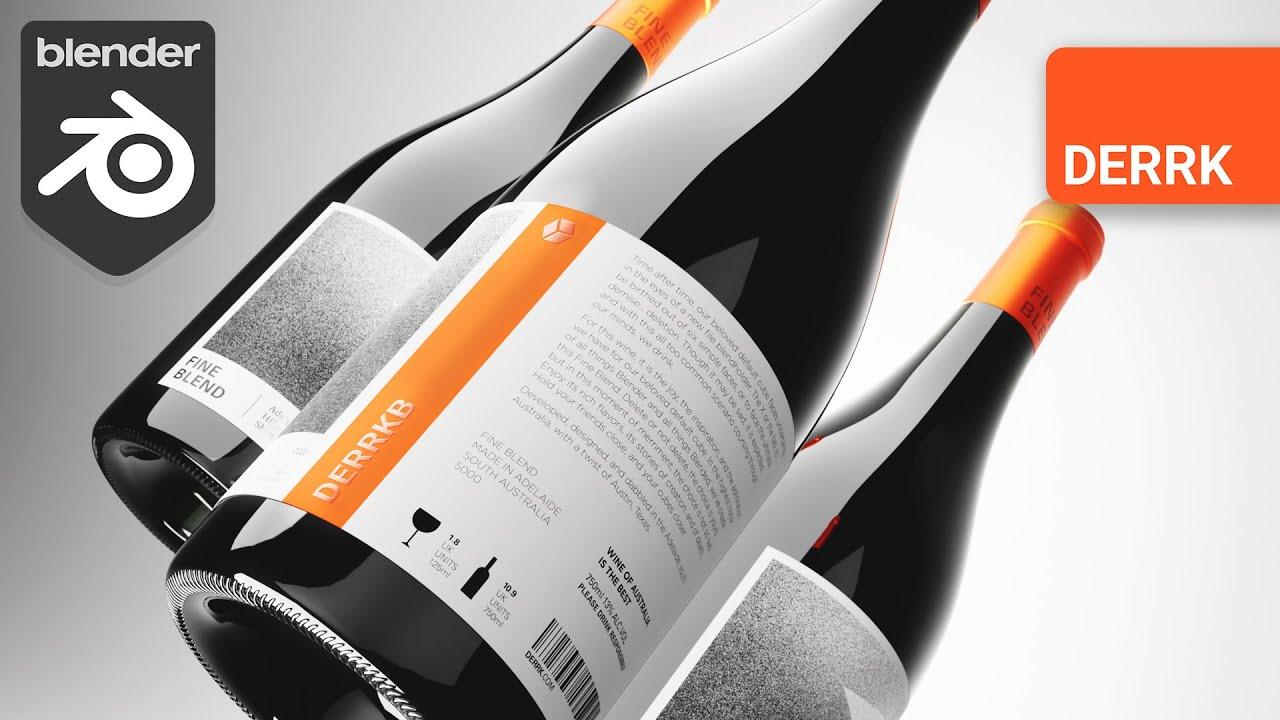 Product Rendering in Blender: Wine Bottle Modeling, Texturing, Lighting (1/2)