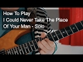 'I Could Never Take The Place of Your Man' Solo - Prince Guitar Tutorial
