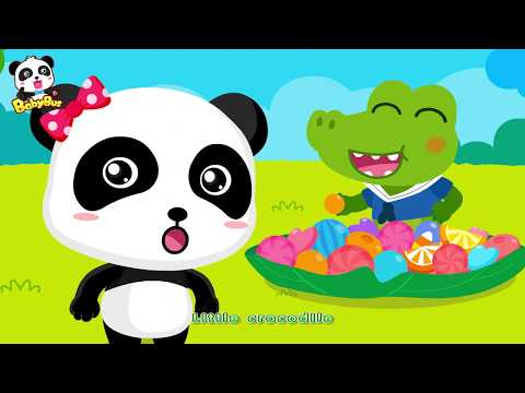 Baby crocodile Ate up all Candies | Candy Song | Nursery Rhymes | Kids Songs | BabyBus