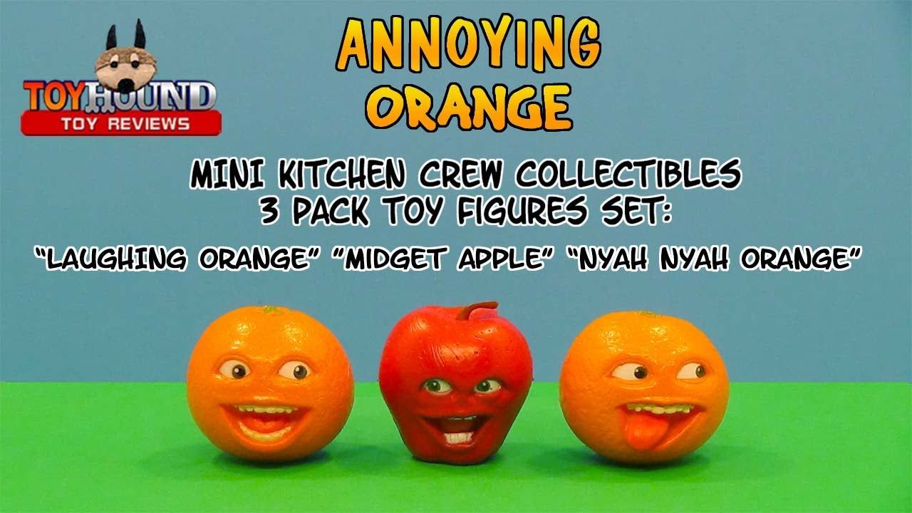 Annoying Orange Mini Figures Kitchen Crew 3 Pack Set Toy