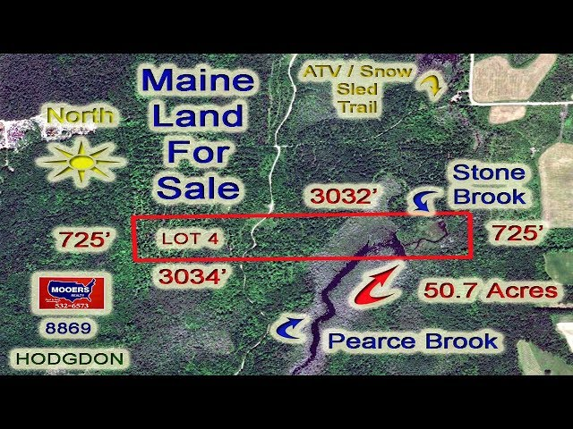 Maine Land For Sale Video! Waterfront, Nearly 51 Acres! MOOERS REALTY #8869