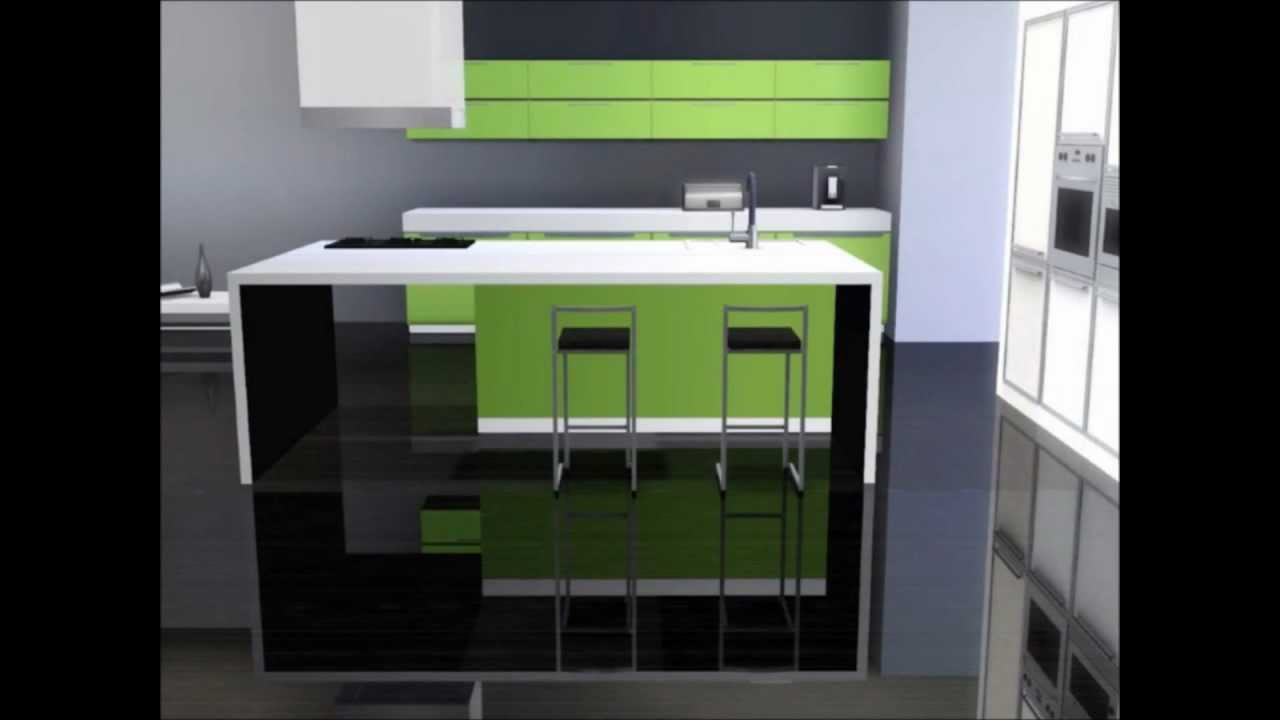 The sims 3 interior design collection kitchen youtube for Sims 3 kitchen designs