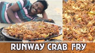 Fun Overload !!! ஏர்போட்டில் ஏரி நண்டு வறுவல்   Airport Crab Catch & Cooking   பாரம்பரிய  சமையல்