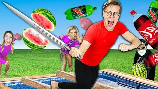 Extreme Ninja Obstacle Course Challenge in Matt and Rebecca's Backyard to Reveal Secrets!