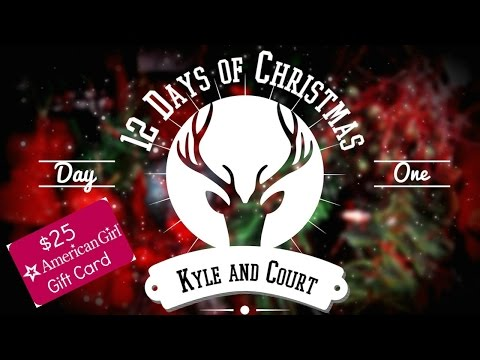 Day 1: $25 American Girl Gift Card - KyleandCourt's 12 Days Of Christmas Giveaways!