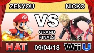 HAT 37 - eM   Zenyou (Mario) Vs. FAD   Nicko (Shulk) Grand Finals - Smash 4