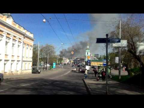 Пожар в новостройке на ул. Доронина в Ярославле 18/09/2014